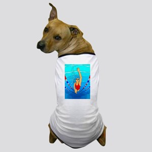 Woman swimming Dog T-Shirt