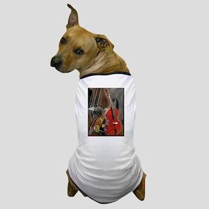 Upright Bass Art 1 Dog T-Shirt