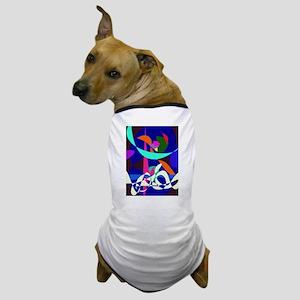 White Waves Dog T-Shirt