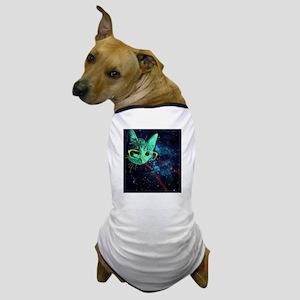 Laser Eyes Space Cat Dog T-Shirt