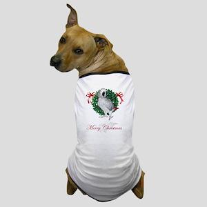 african grey christmas Dog T-Shirt