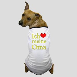 I Love Grandma (German) Dog T-Shirt