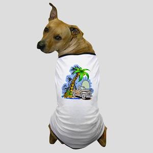 Tropical Scene Dog T-Shirt