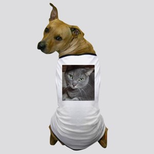 Gray Cat Russian Blue Dog T-Shirt