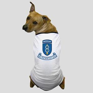 Army-8th-Infantry-Div-Germany-Scroll Dog T-Shirt