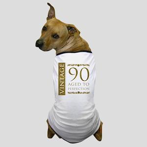 Fancy Vintage 90th Birthday Dog T-Shirt