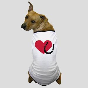 Horseshoe red heart Dog T-Shirt