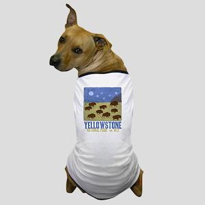 Yellowstone Bison Scene Dog T-Shirt