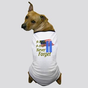 9-11 / Flag / Never Forget Dog T-Shirt