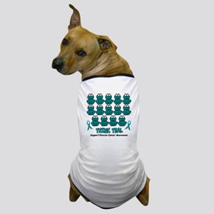 Teal Frogs 3 Dog T-Shirt