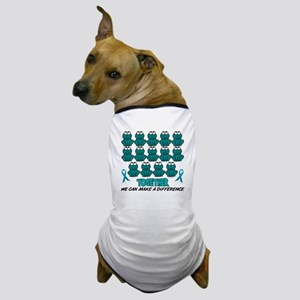 Teal Frogs 1 Dog T-Shirt