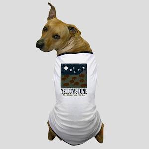 Yellowstone Park Night Sky Dog T-Shirt