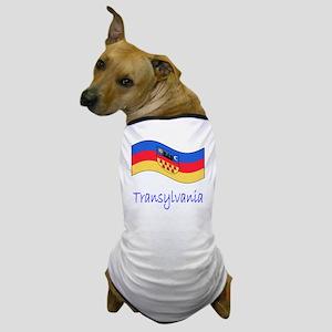 Waving Transylvania Historical Flag Dog T-Shirt