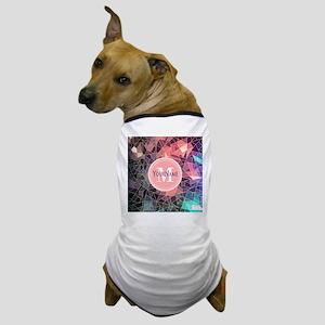 Colorful Mosaic Pattern Personalized Dog T-Shirt