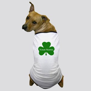CUSTOM Shamrock with Your Name Dog T-Shirt