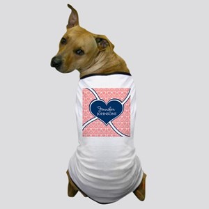 Coral Glasses Pattern With Heart Perso Dog T-Shirt