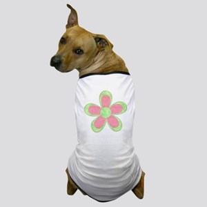 Pink and Green Flowers Dog T-Shirt