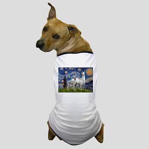 Starry Night Llama Duo Dog T-Shirt