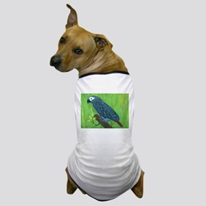 African Grey Parrot Dog T-Shirt