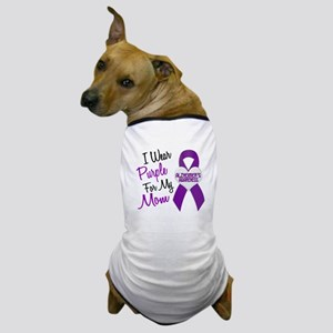 I Wear Purple For My Mom 18 (AD) Dog T-Shirt
