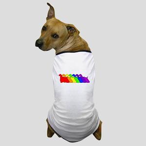 Rainbow Cocker Spaniel Dog T-Shirt