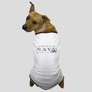 Proud Navy Aunt (blue) Dog T-Shirt