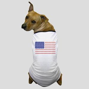USA Patriotic Cat Flag Dog T-Shirt
