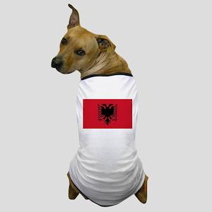 Albanian Flag Dog T-Shirt