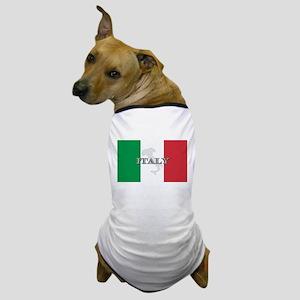 Italian Flag Extra Dog T-Shirt