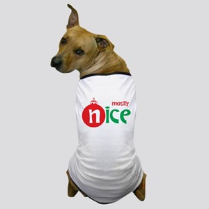 Christmas Mostly Nice Dog T-Shirt
