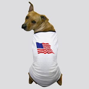 United States Flag Dog T-Shirt