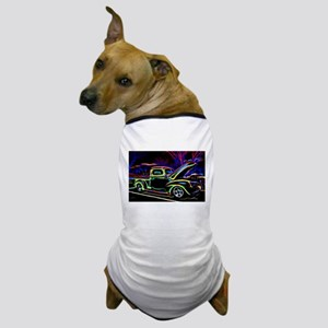 1940 Ford Pick up Truck Neon Dog T-Shirt