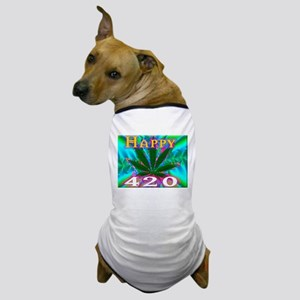 happy 420 Dog T-Shirt