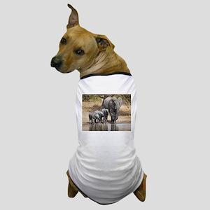 Elephant mom and babies Dog T-Shirt