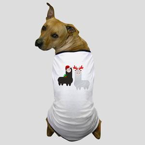 christmas reindeer alpacas Dog T-Shirt