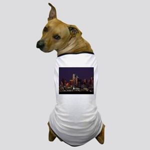 Dallas Skyline at Night Dog T-Shirt
