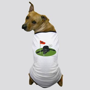 Black Lab Golfer Dog T-Shirt