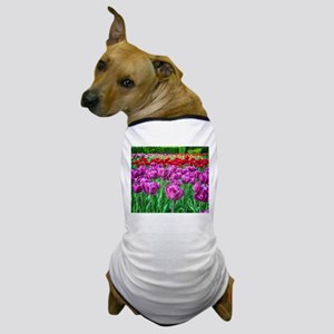 Tulip Field Dog T-Shirt