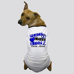 Peace Love Stop Child Abuse 1 Dog T-Shirt