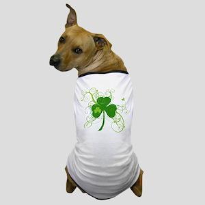 St Paddys Day Fancy Shamrock Dog T-Shirt