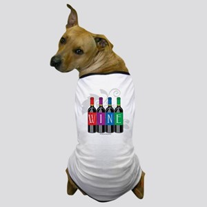 Wine Bottles Dog T-Shirt