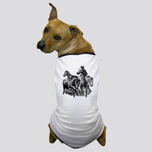 Wild Horses Illustration Dog T-Shirt