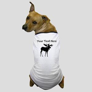 Custom Moose Silhouette Dog T-Shirt