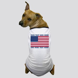 Personalized Patriotic American Flag Classic Dog T