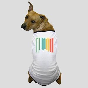 Vintage Pittsburgh Cityscape Dog T-Shirt