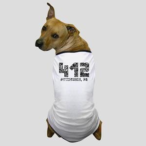 412 Pittsburgh PA Area Code Dog T-Shirt