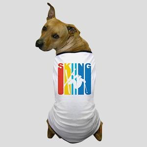 Retro Skiing Dog T-Shirt