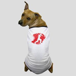 Cricket Paint Splatter Dog T-Shirt
