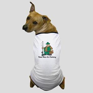 Reel Men Go Fishing Dog T-Shirt