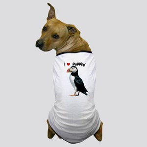 I Luv Puffins Dog T-Shirt